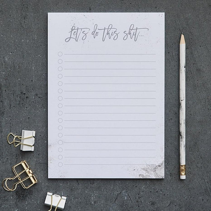 A5 Notepad 'Let's Do This Shit'