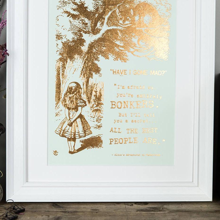 Alice In Wonderland Gifts - 'Bonkers' Special Edition Prints