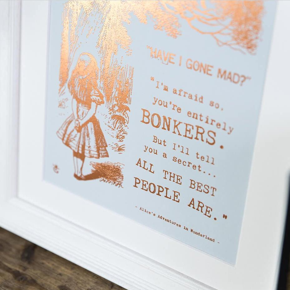 Alice In Wonderland Bonkers Prints Uk