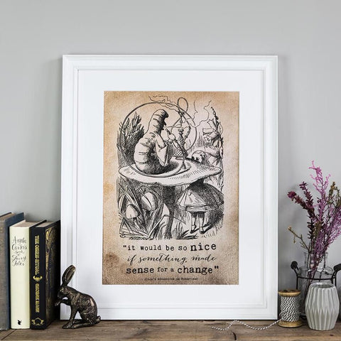 Alice In Wonderland Prints - 'It Would Be So Nice'