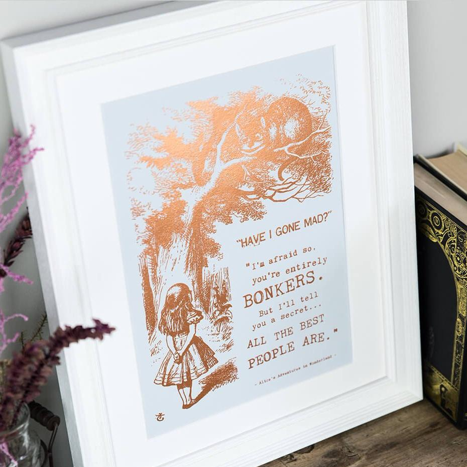 Bonkers Alice In Wonderland Prints