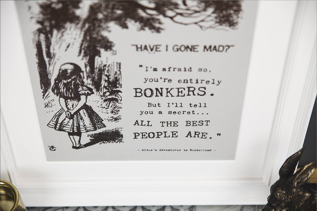 Alice In Wonderland Prints 'Bonkers'