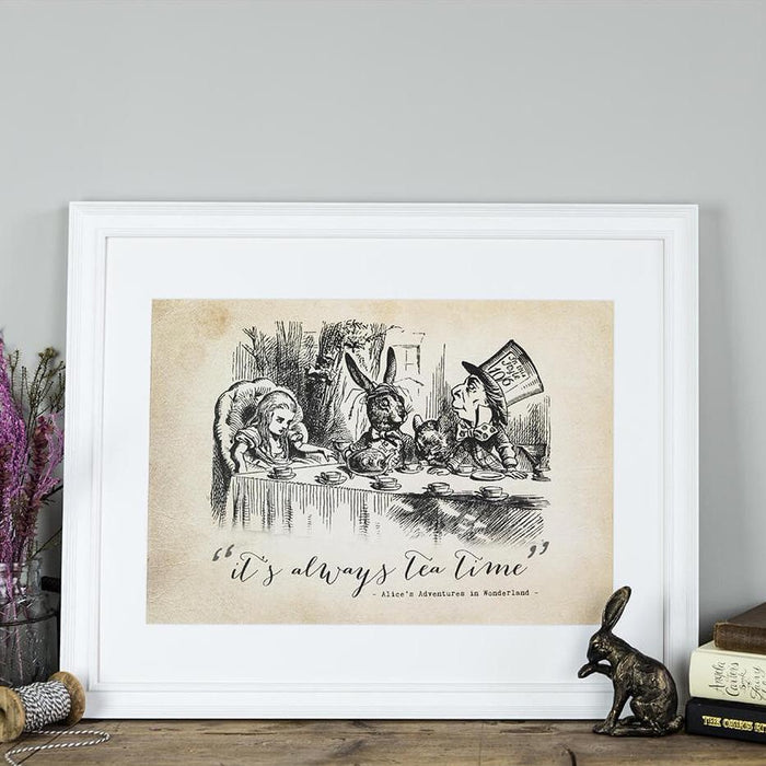 Alice In Wonderland Prints 'It's Always Tea Time'