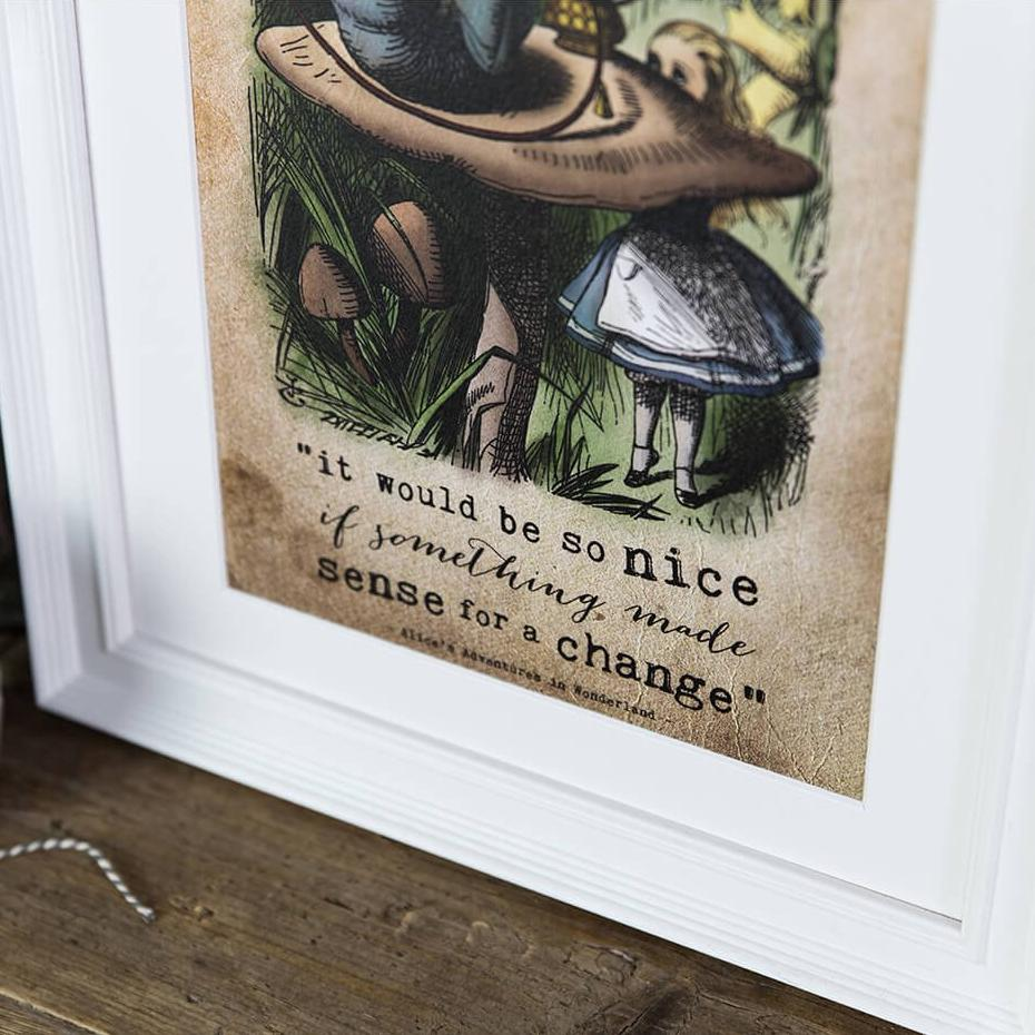 Alice in Wonderland Gifts - 'It would be so nice' colour prints
