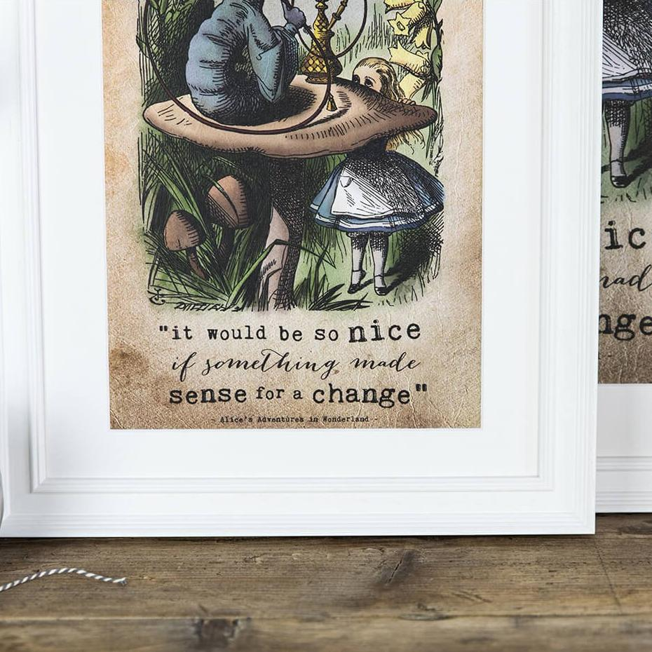 Alice in Wonderland Gifts - 'It would be so nice' colour version