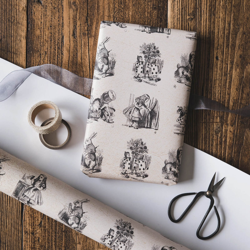 Alice in Wonderland Illustrations Gift Wrap