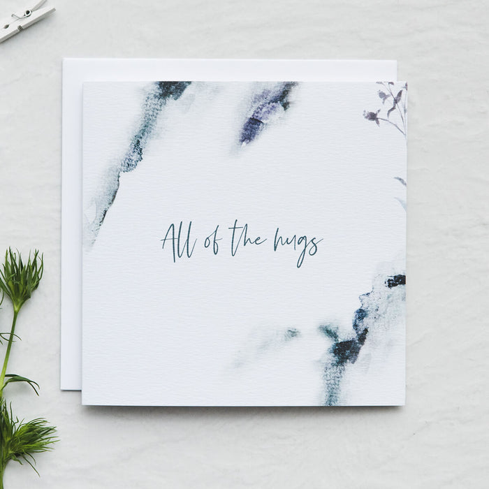 'All the hugs' Sympathy card