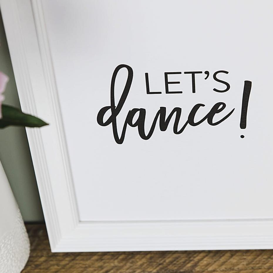 Black And White Typography Prints 'Let's Dance'