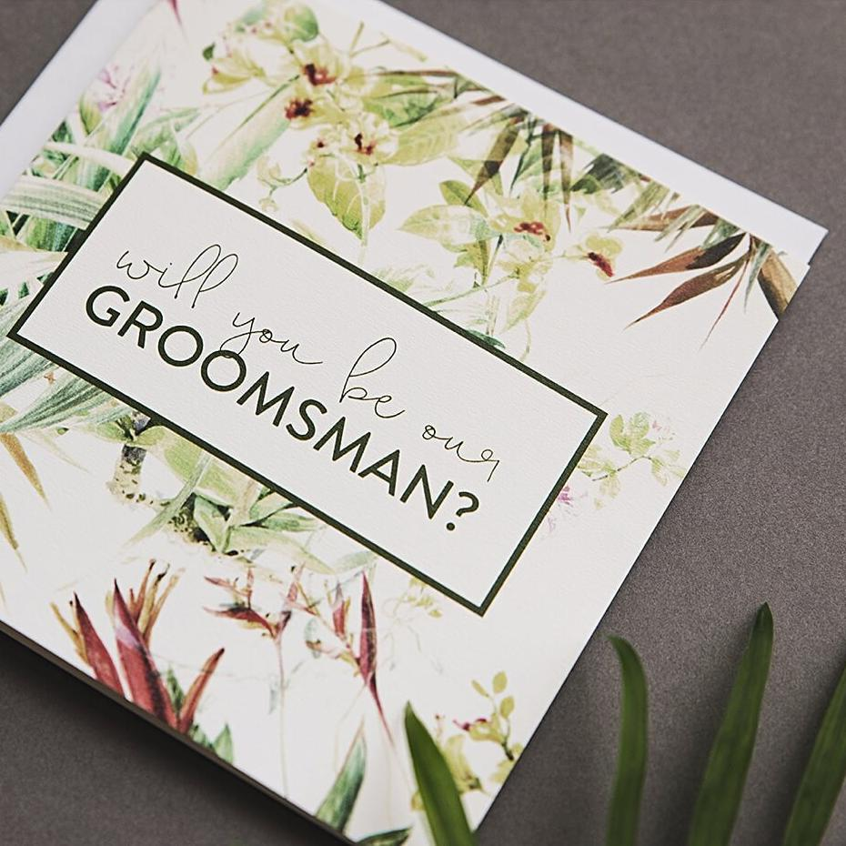 Will You Be Our Groomsman Proposal Card
