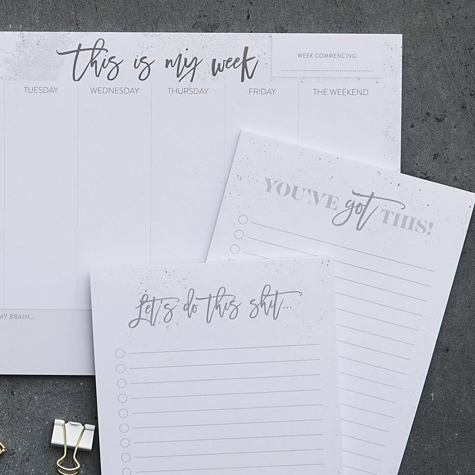 Complete Marble Stationery Set