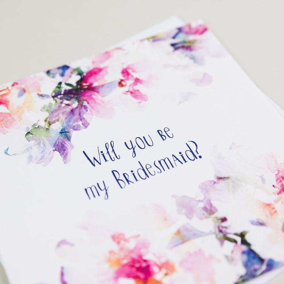 Elegant Bridesmaid Proposal Cards - 'Will You Be My Bridesmaid'
