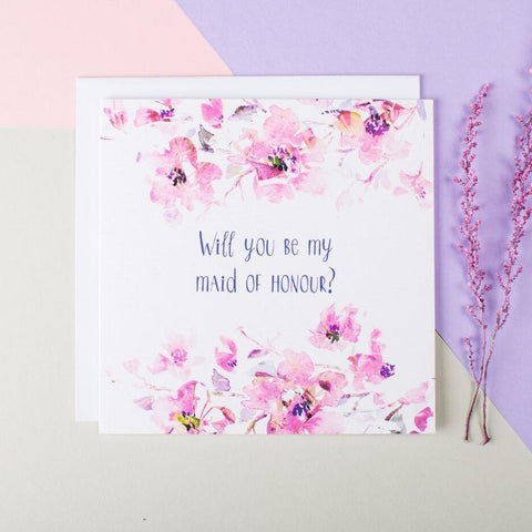 Elegant Maid Of Honour Proposal Cards - 'Will You Be My Maid Of Honour'