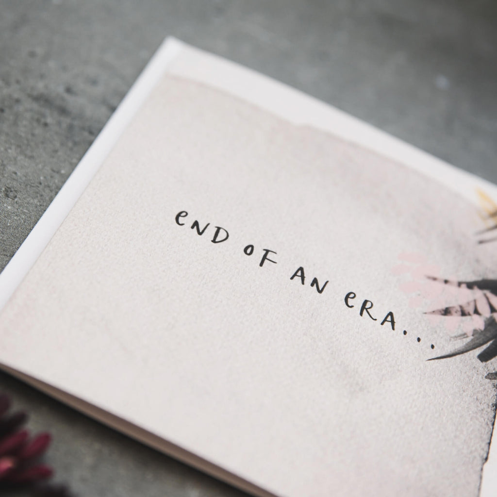'End Of An Era' Greetings card