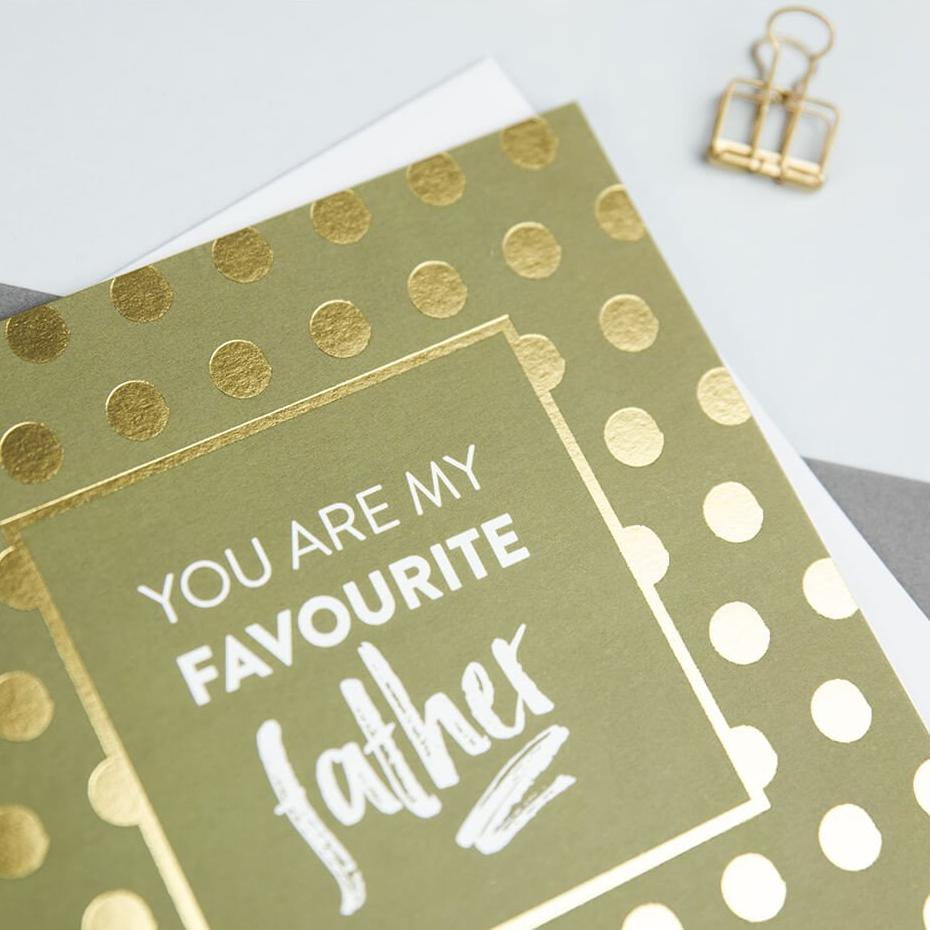 Gold Foil Father's Day Card