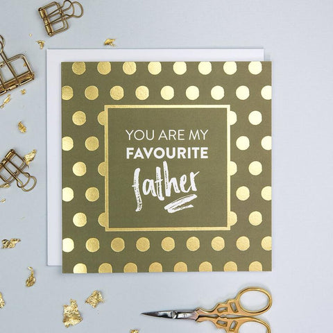 Gold Foil Father's Day Cards - Luxury Greetings Card