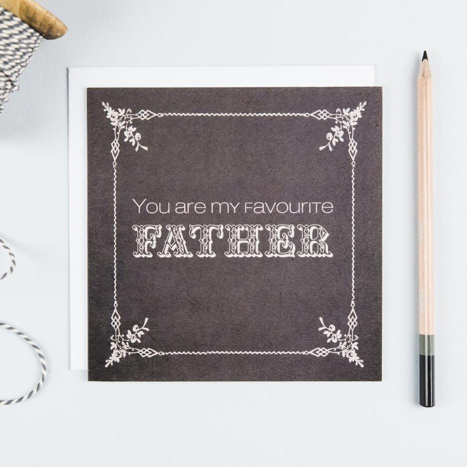 Vintage Father's Day Cards Online 'You are my favourite father'