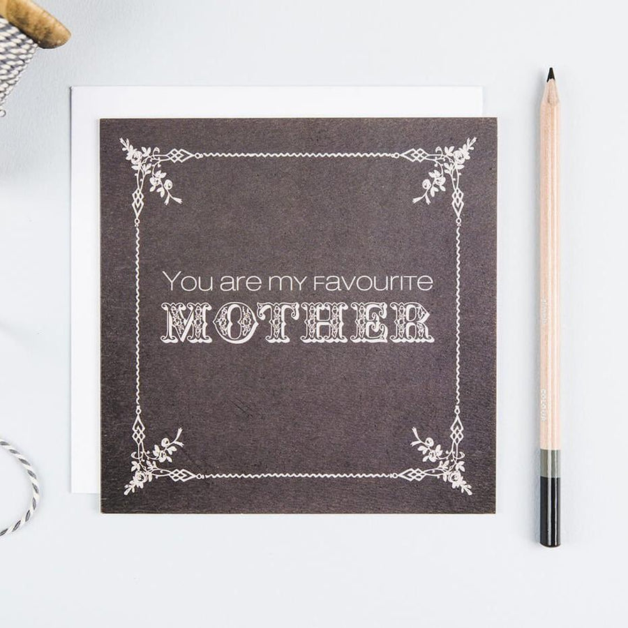 'Favourite Mother' Vintage-style Mother's Day Card