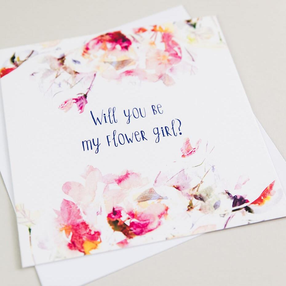 Will You Be My Flower Girl Proposal Card - Cute Wedding