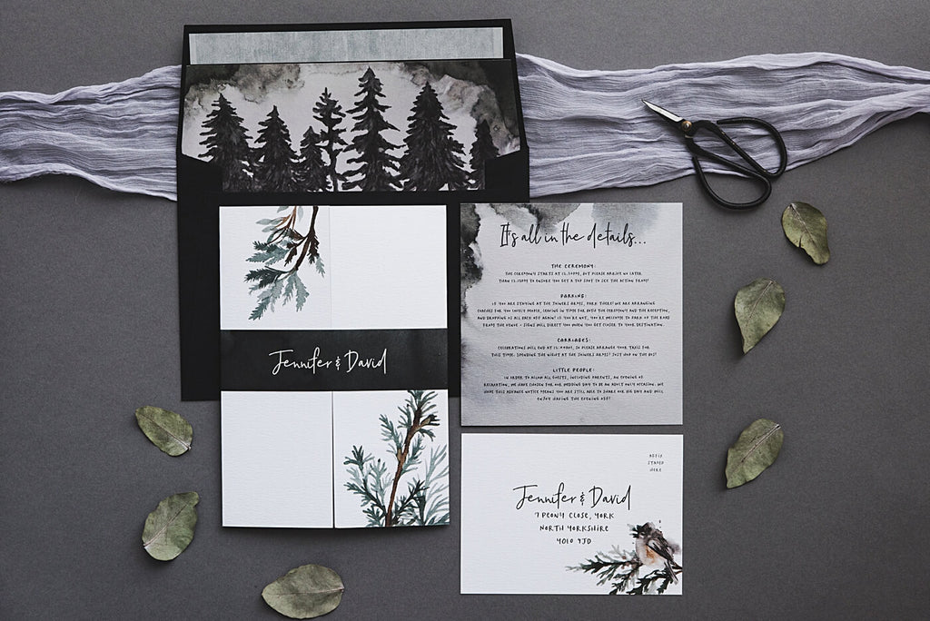 Winter Forest Wedding Stationery