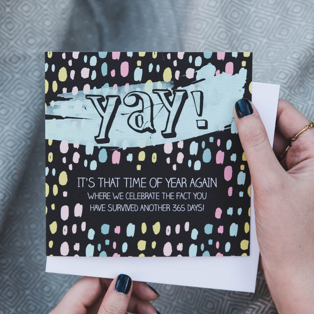 'Yay!' Funny Birthday Card