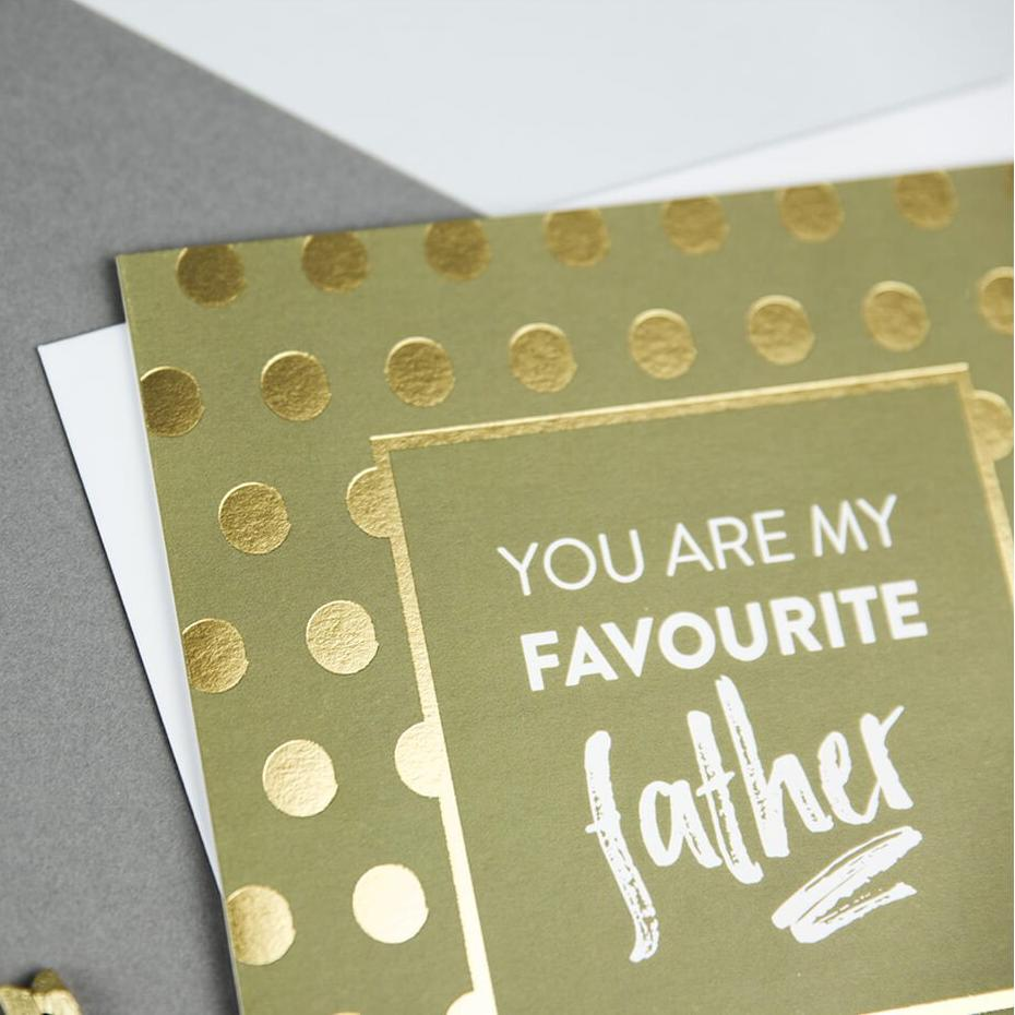 Gold Foil Father's Day Cards