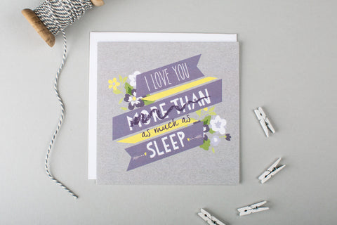 Sleep Anniversary Card For Boyfriend