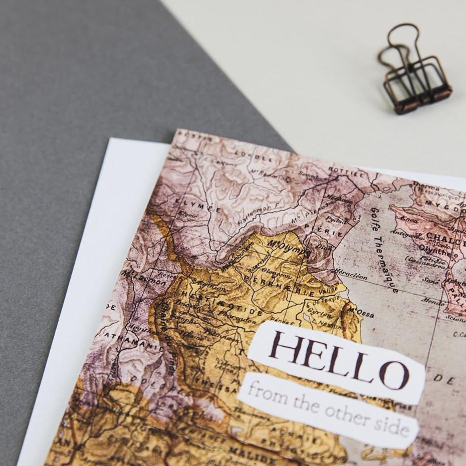 Funny long distance card - 'Hello From The Other Side' - Adele card