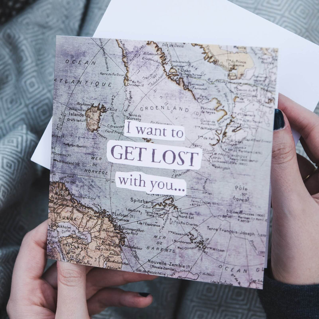 'Get Lost' Funny Anniversary and Valentine's Card