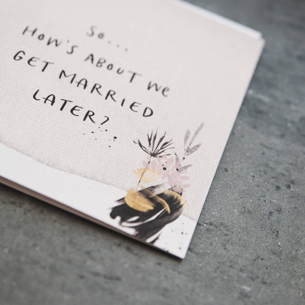 Abstract Wedding Day Card 'Get Married Later'
