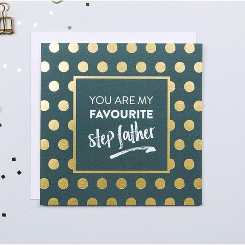 Gold Foil Fathers Day Card For Step Father
