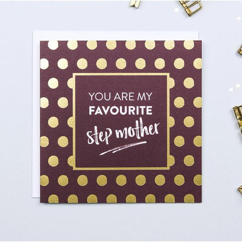 Gold Foil Mother's Day Card For Step Mother