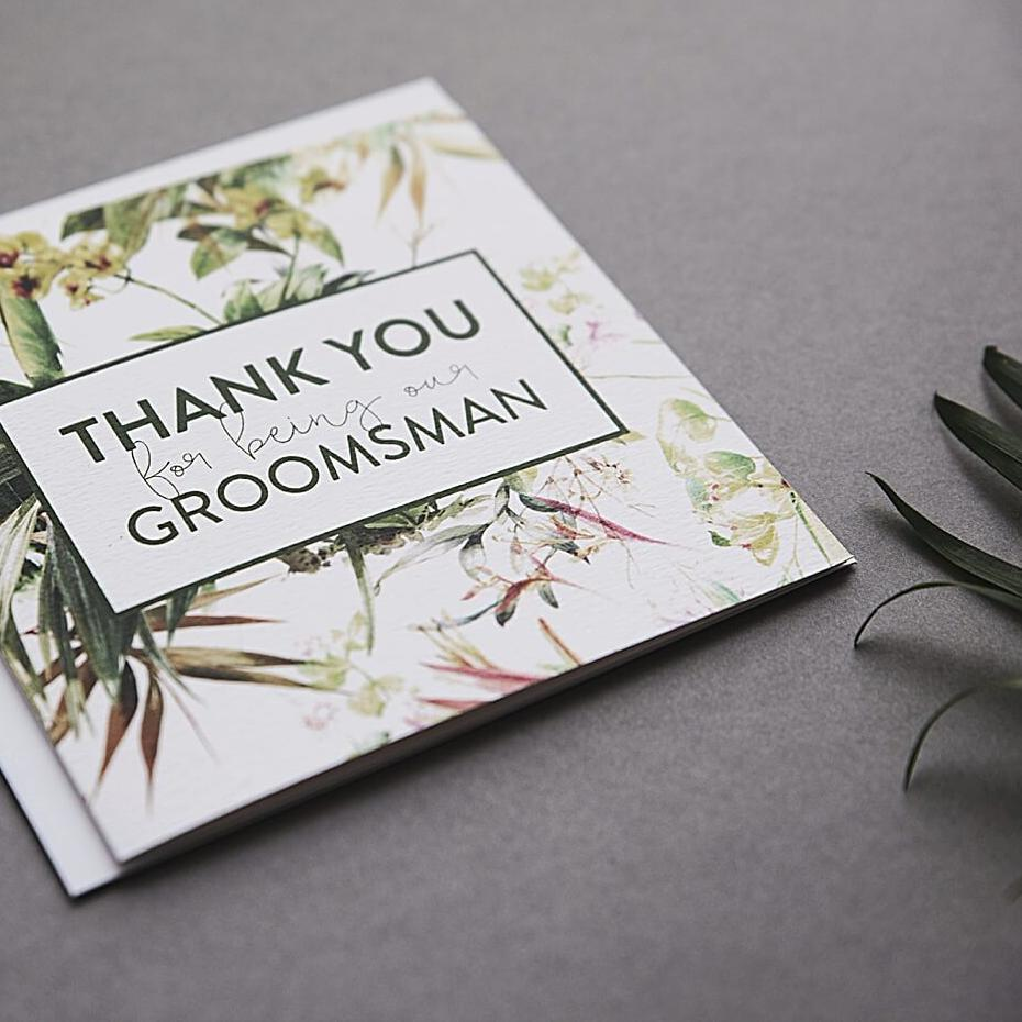 Thank you for being our Groomsman Card