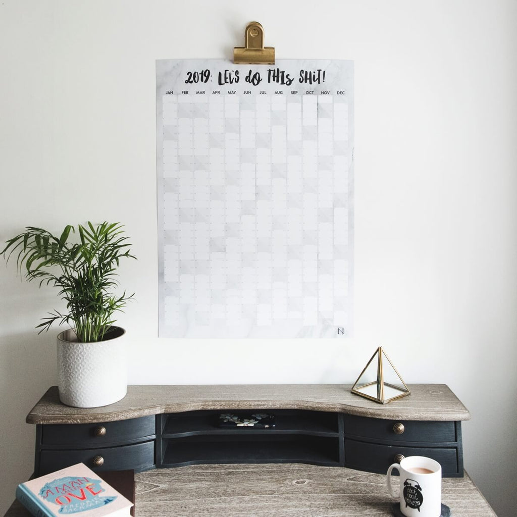 2019 Wall Planner For Home or Office 'Let's Do This Shit'