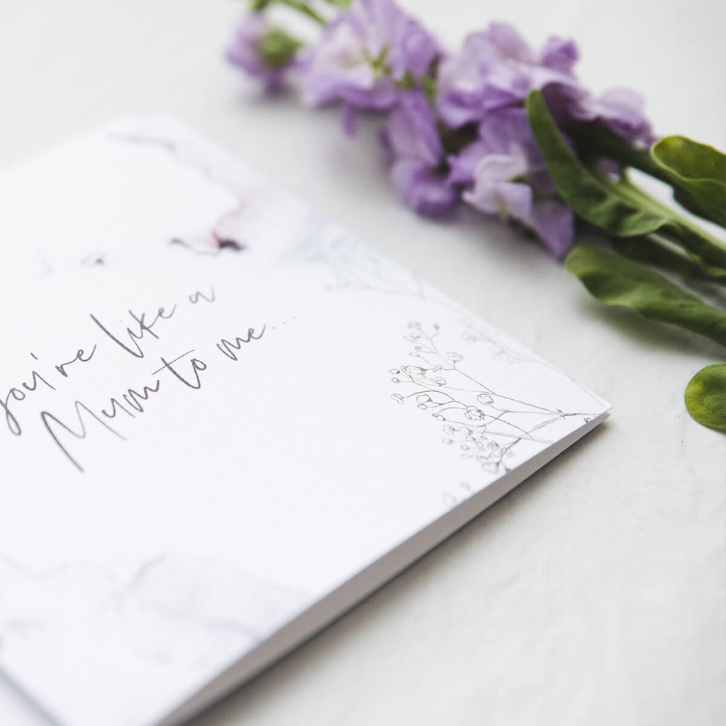 Floral Mum Card - 'You're Like A Mum To Me'