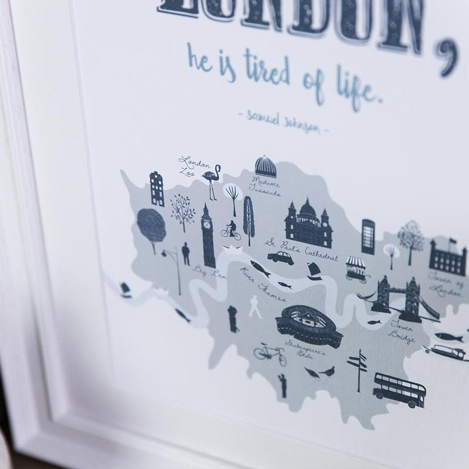 London quote print - Samuel Johnson