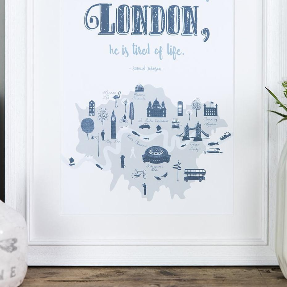 London wall art - typographic quote print
