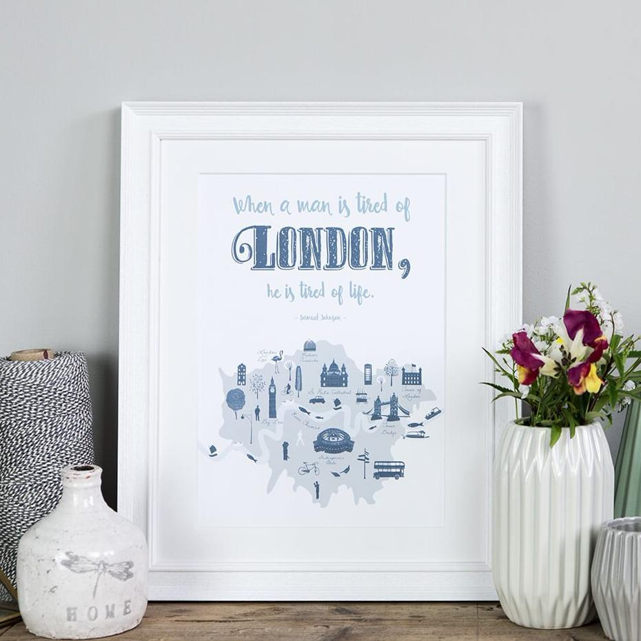 London wall art quote print