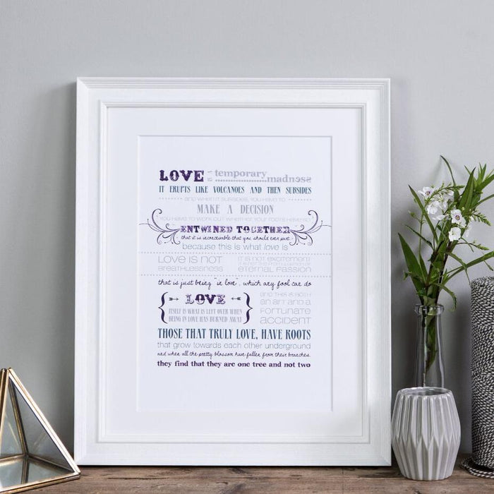 'Love Is A Temporary Madness' Print Captain Corelli's Mandolin