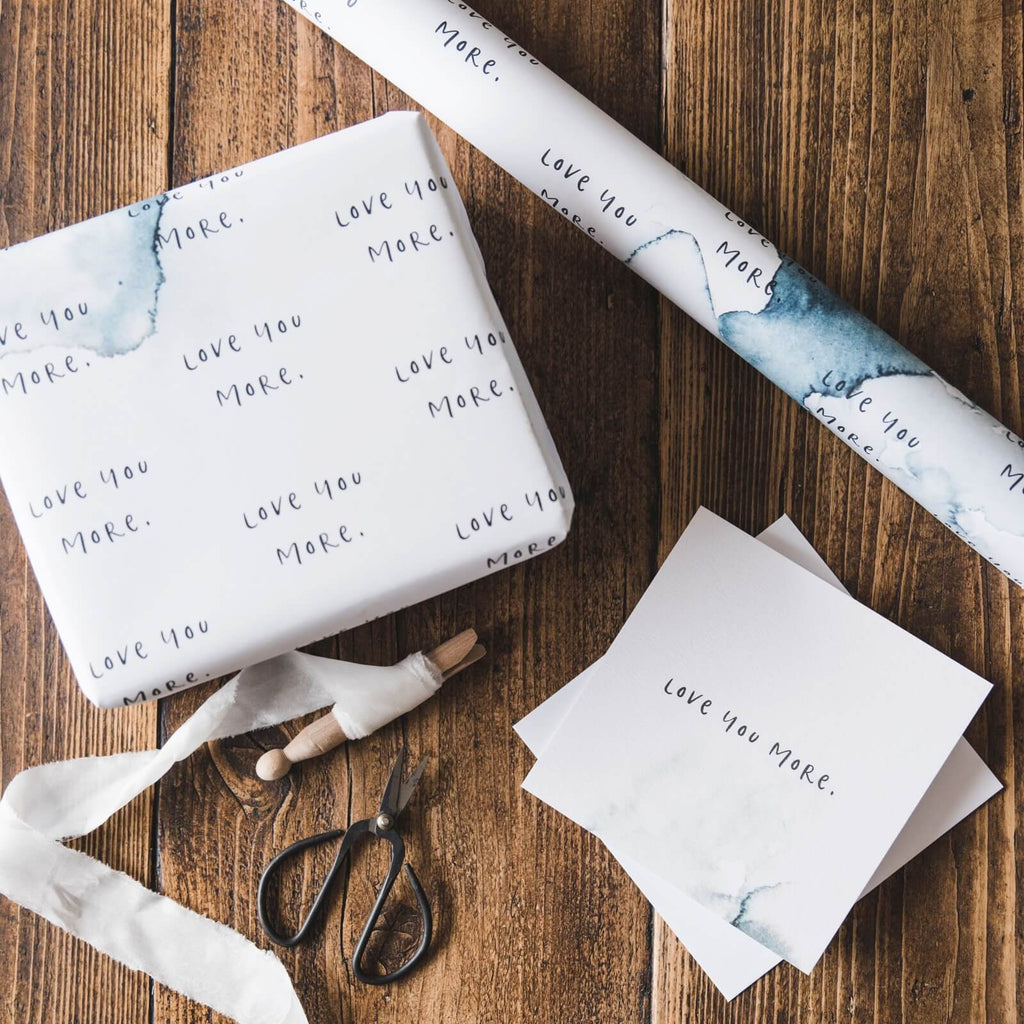 'Love You More' Anniversary and Valentine's Gift Wrap