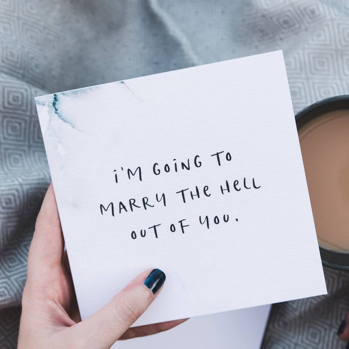 Funny Wedding Day Card 'Marry The Hell Out Of You'