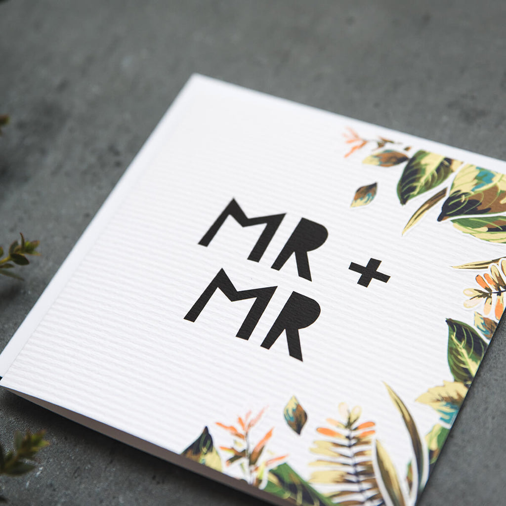 'Mr & Mr' Botanical Wedding Card
