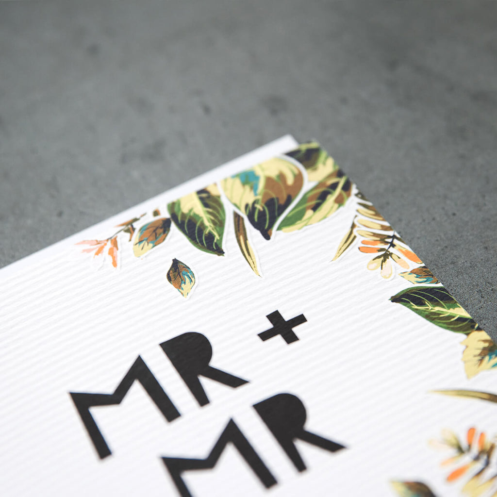 Gay Wedding Card 'Mr & Mr'