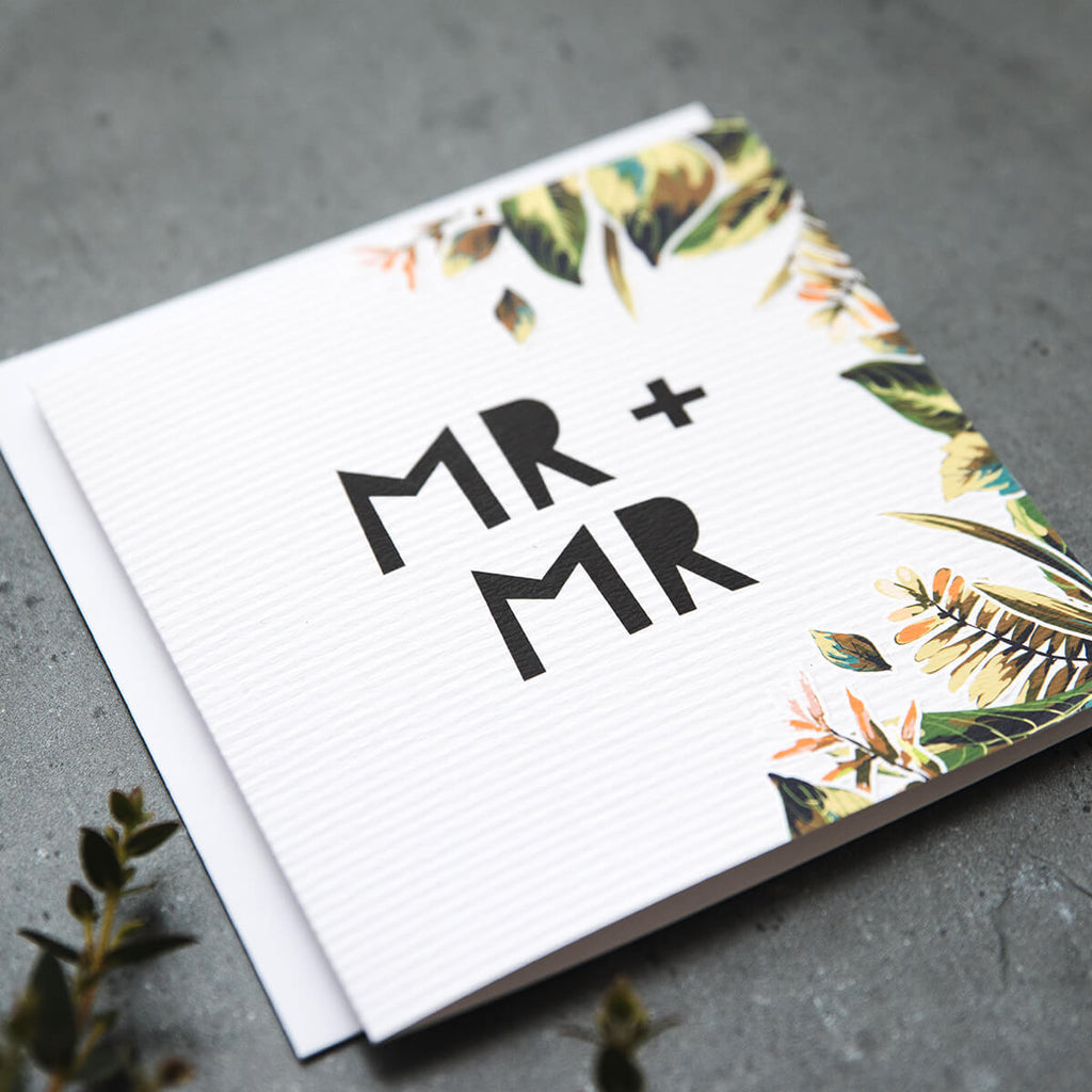 'Mr & Mr' Wedding Day Card