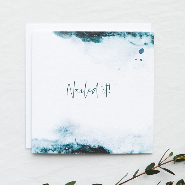 'Nailed It' Congratulations Card