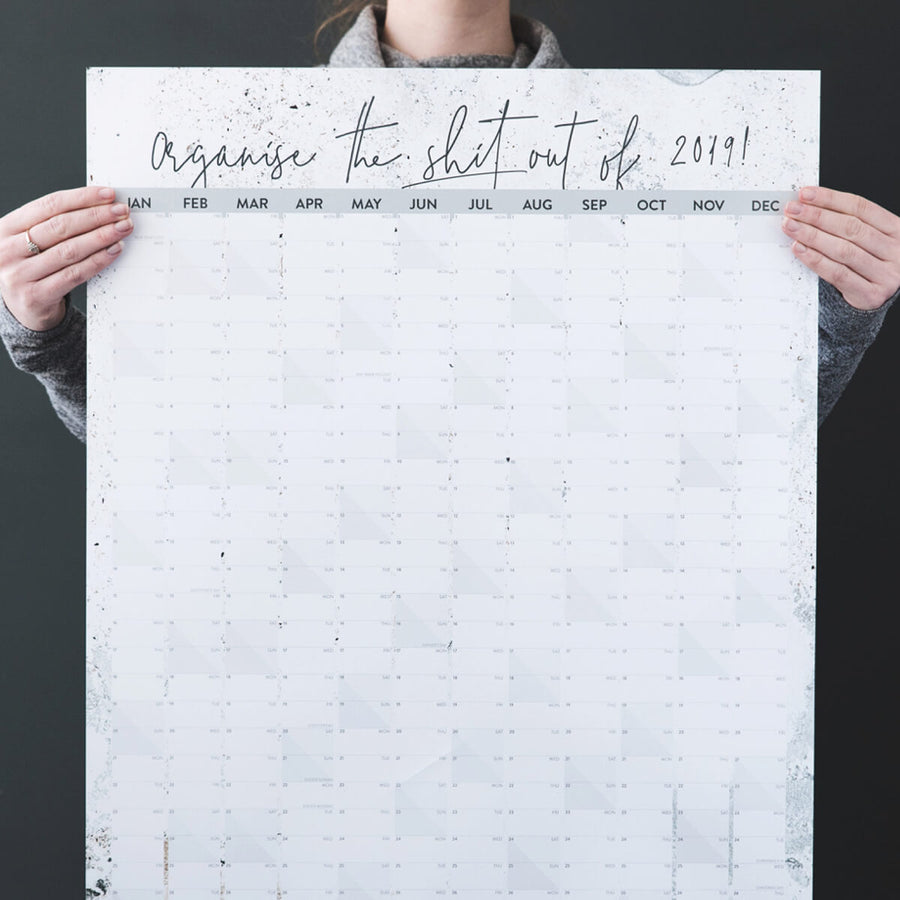 'Organise The Shit Out Of 2019' Wall Planner