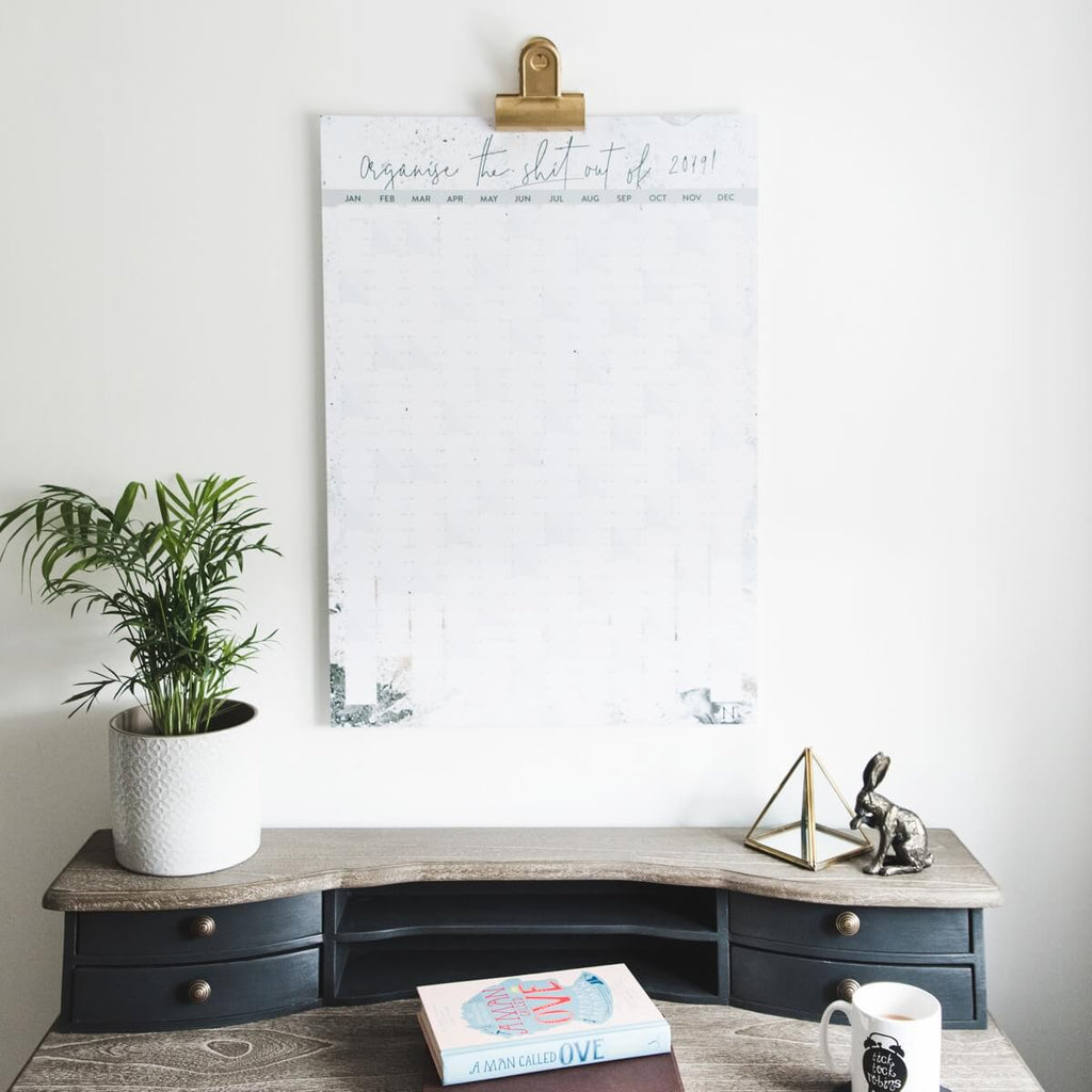 Large 2019 Wall Planner 'Organise The Shit'