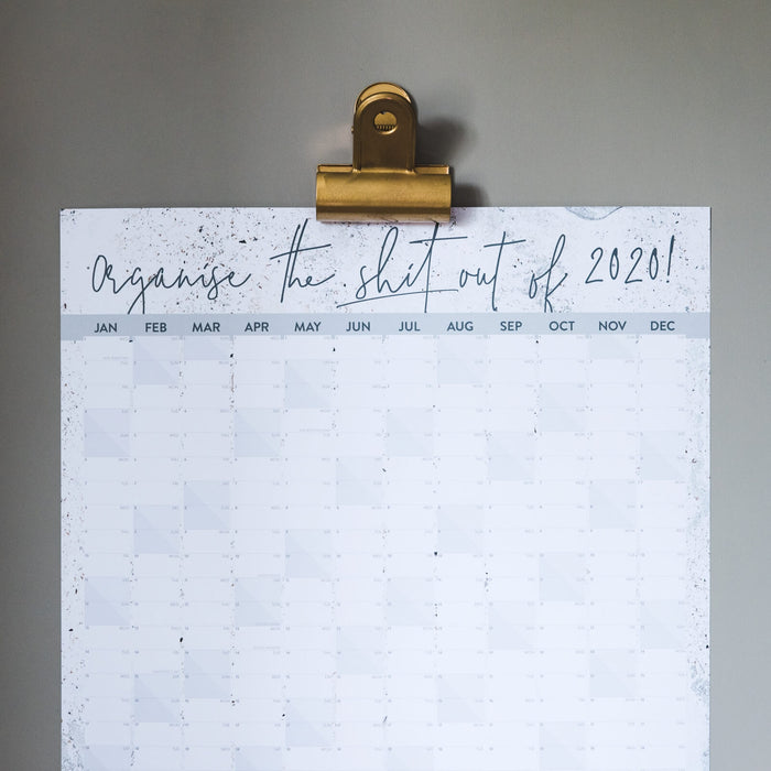 'Organise The Shit Out of 2020' Wall Planner