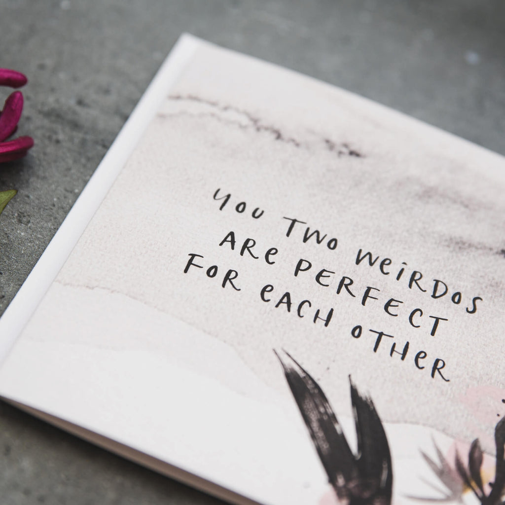 Funny Wedding and Engagement Card 'Perfect For Each Other'