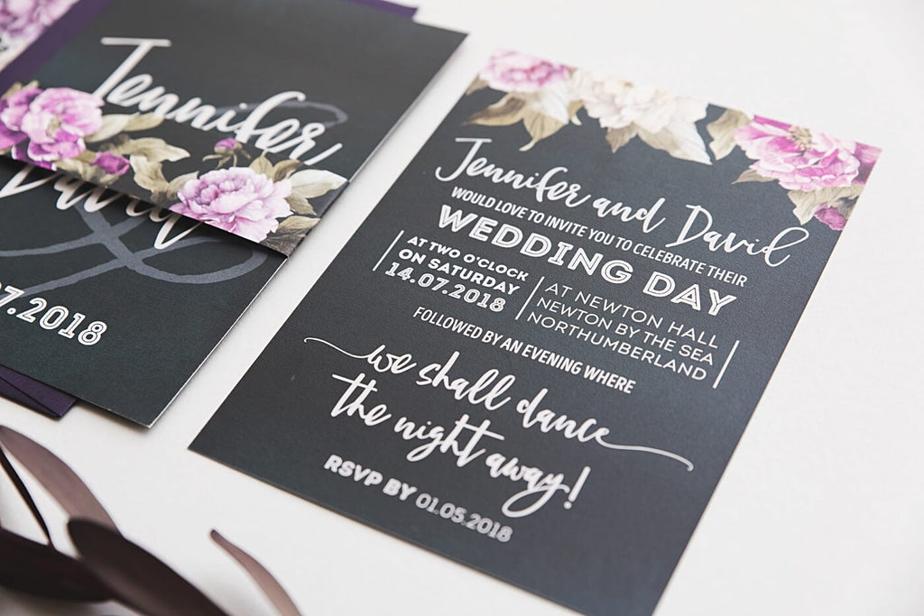 Peonies Wedding Stationery Suite