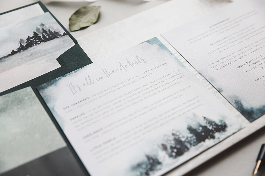 Details Winter Wedding Invitations